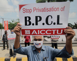 BPCL-protest